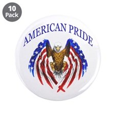 "American Pride Eagle 3.5"" Button (10 pack)"