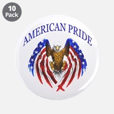 "American Pride Eagle 3.5"" Button (10 pack)"