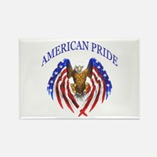 American Pride Eagle Rectangle Magnet