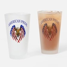 American Pride Eagle Drinking Glass