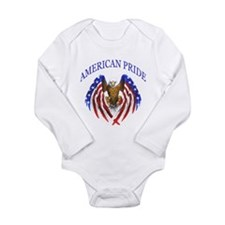 American Pride Eagle Long Sleeve Infant Bodysuit