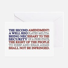 Second Amendment Flag Greeting Card