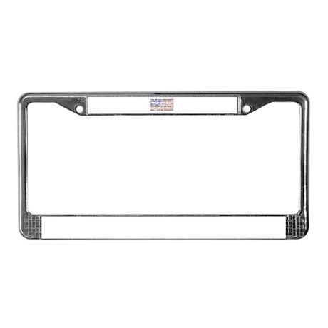 Second Amendment Flag License Plate Frame