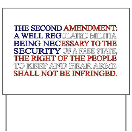 Second Amendment Flag Yard Sign