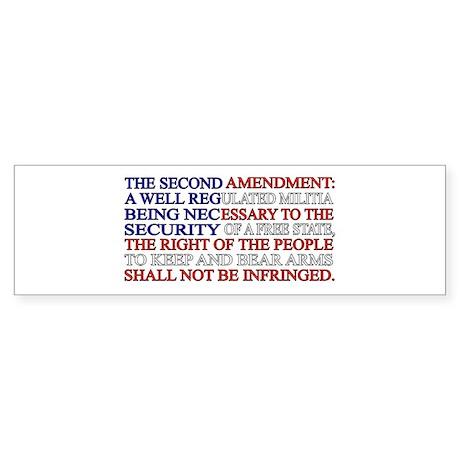 Second Amendment Flag Sticker (Bumper)
