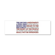 Second Amendment Flag Car Magnet 10 x 3