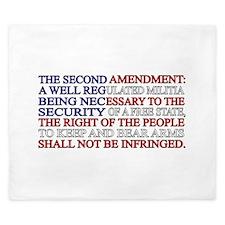 Second Amendment Flag King Duvet