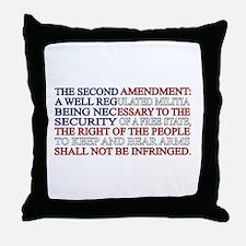 Second Amendment Flag Throw Pillow