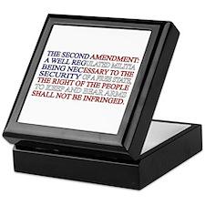 Second Amendment Flag Keepsake Box