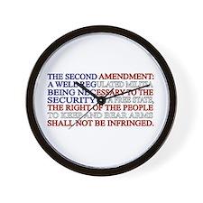 Second Amendment Flag Wall Clock