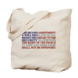 2nd amendment Canvas Totes