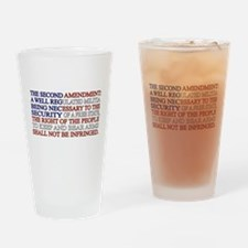 Second Amendment Flag Drinking Glass