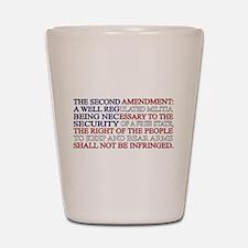 Second Amendment Flag Shot Glass