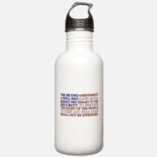 Second Amendment Flag Water Bottle