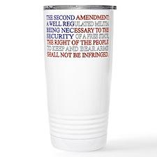 Second Amendment Flag Travel Coffee Mug