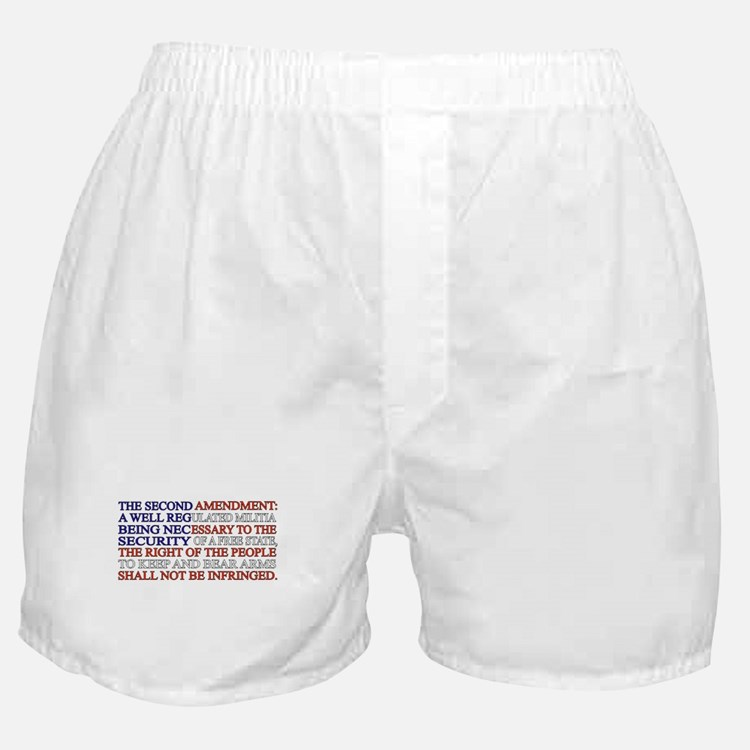 Second Amendment Flag Boxer Shorts