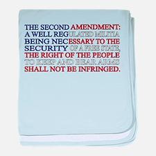 Second Amendment Flag baby blanket