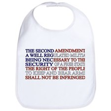 Second Amendment Flag Bib