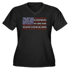 Second Amendment Flag Women's Plus Size V-Neck Dar