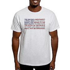 Second Amendment Flag T-Shirt