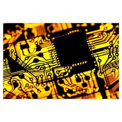 Printed circuit board, artwork Poster