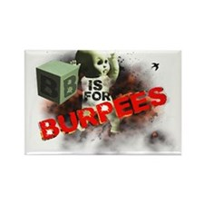 B is for Burpees Rectangle Magnet (10 pack)