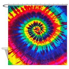 Bright Tie-Dye Shower Curtain