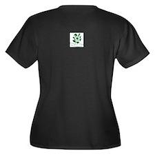 Cute Oops a dazy Women's Plus Size V-Neck Dark T-Shirt