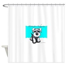 Miniature Schnauzer Shower Curtain