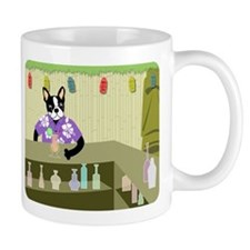 Boston Terrier Tiki Bar Coffee Mug