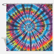Rainbow Swirl Shower Curtain
