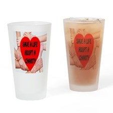 Save A Life Adopt A Charity Drinking Glass