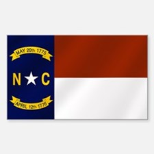 North Carolina Flag Decal