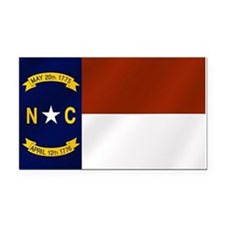 North Carolina Flag Rectangle Car Magnet