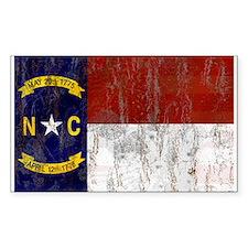 North Carolina Retro Flag Decal