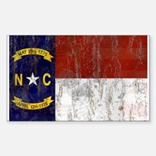 North Carolina Retro Flag Decal