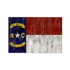 North Carolina Retro Flag Rectangle Magnet