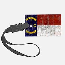 North Carolina Retro Flag Luggage Tag