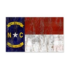 North Carolina Retro Flag Wall Decal