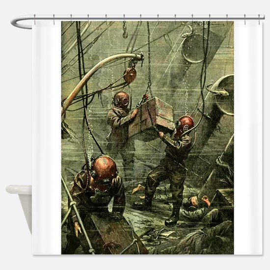 SALVAGE DIVERS.psd Shower Curtain