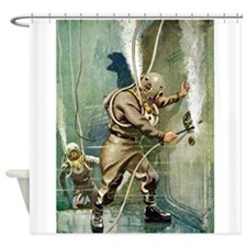 DIVERS WELDING.psd Shower Curtain