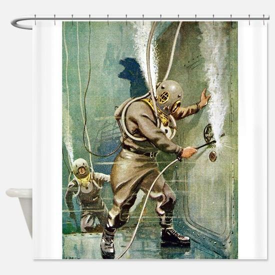 DIVERS WELDING.psd Shower Curtain