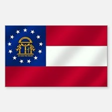 Georgia State Flag Sticker (Rectangle)