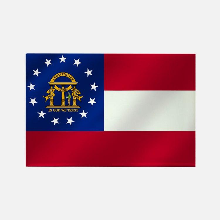 Georgia State Flag Rectangle Magnet