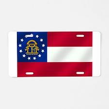 Georgia State Flag Aluminum License Plate