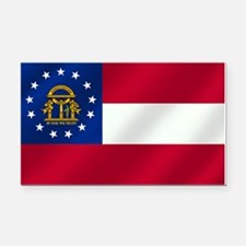 Georgia State Flag Rectangle Car Magnet