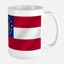 Georgia State Flag Large Mug