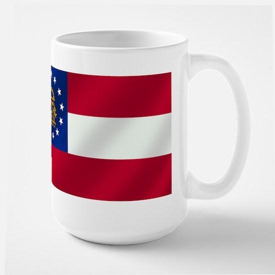 Georgia State Flag Large Mug