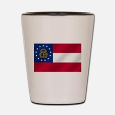 Georgia State Flag Shot Glass