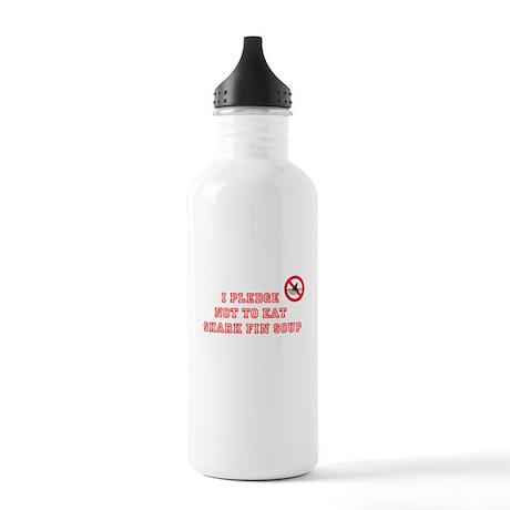 PLEDGE NOT TO EAT SHARK FIN Stainless Water Bottle